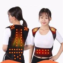 טורמלין חימום עצמי טיפול מגנטי חגורת תמיכת מותניים כתפיים אפוד חזייה חם כאבי גב טיפול