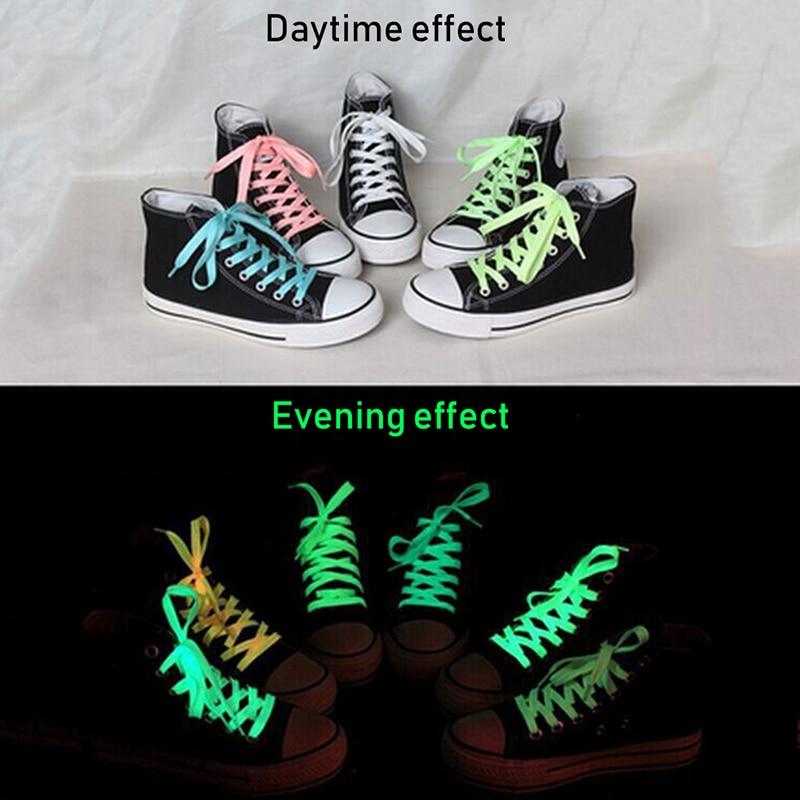 Glow In The dark Shoelace Luminous Fluorescent Green x 1pair Shoe Lace