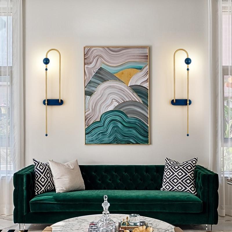 Nordic Designer Minimalist Wall Sconce Hotel Bedroom Aisle Background Wall Luxury Wall light
