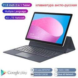 K20-S Global Versie 2 In 1 Tablet Pc 4G Laptop Tablet 11.6 Inch Android Tablet Met Toetsenbord MT6797 Kids tablet Gps Ultrabook