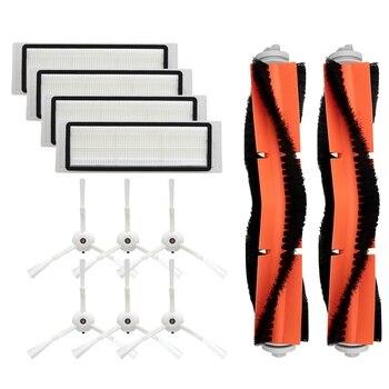 6 Side Brush + 4 HEPA Filter + 2 Main Roller Brush for Xiaomi Vacuum 2 Roborock S50 S51 MI Robot Vacuum Cleaner Spare Parts