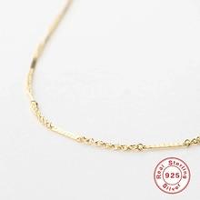 Gold Chain Necklace 925-Sterling-Silver BOAKO Fine-Jewelry Fashion Women for Gilrs Clavicle