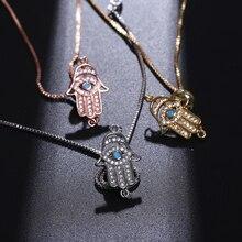 NJ Turkish Lucky Evil Eye Women Charm Bracelets Silver Rose Gold Chain Adjustable Link Trendy Shiny Bracelet Jewelry Gifts