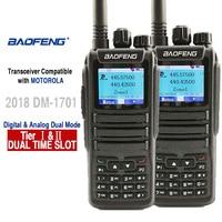 מכשיר הקשר 2pcs Baofeng DM-1701 Digital Analog מכשיר הקשר Dual Band Dual זמן חריץ DMR רדיו תחנת רדיו Comunicador Profiss Uniden (1)
