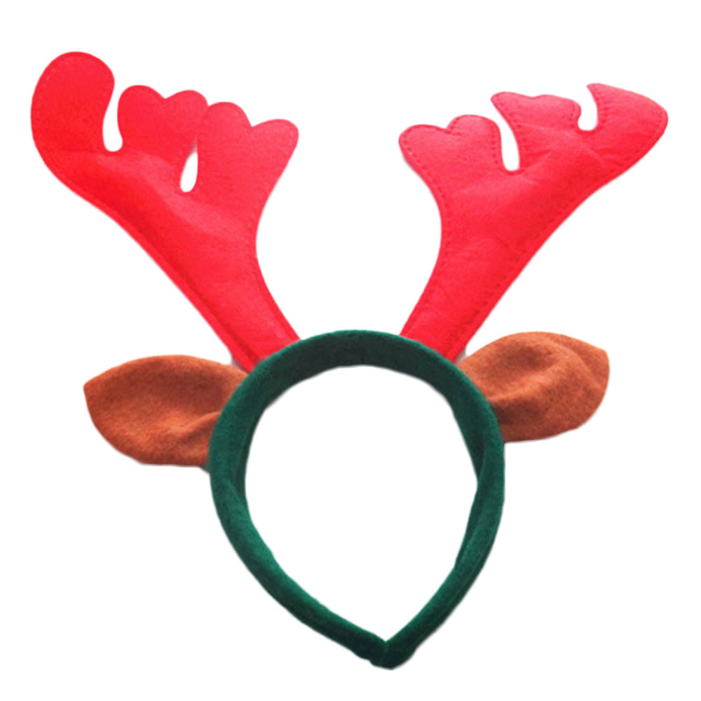 6 Pcs Reindeer Antlers Headbands Christmas Hair Hoop Pet Costume Headpiece For Kids Party Holiday Christmas Headdress Props