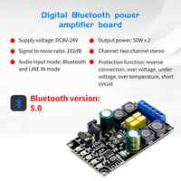 Bluetooth 5,0 Bluetooth Digital Verstärker Für Audio Power Board Dual Kanal 50Wx2 Bluetooth verstärker