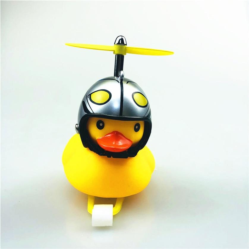 Cute Helmet  Duck Kid Child Bike Bicycle Handlebar Bell Light Horn Warning Lamp