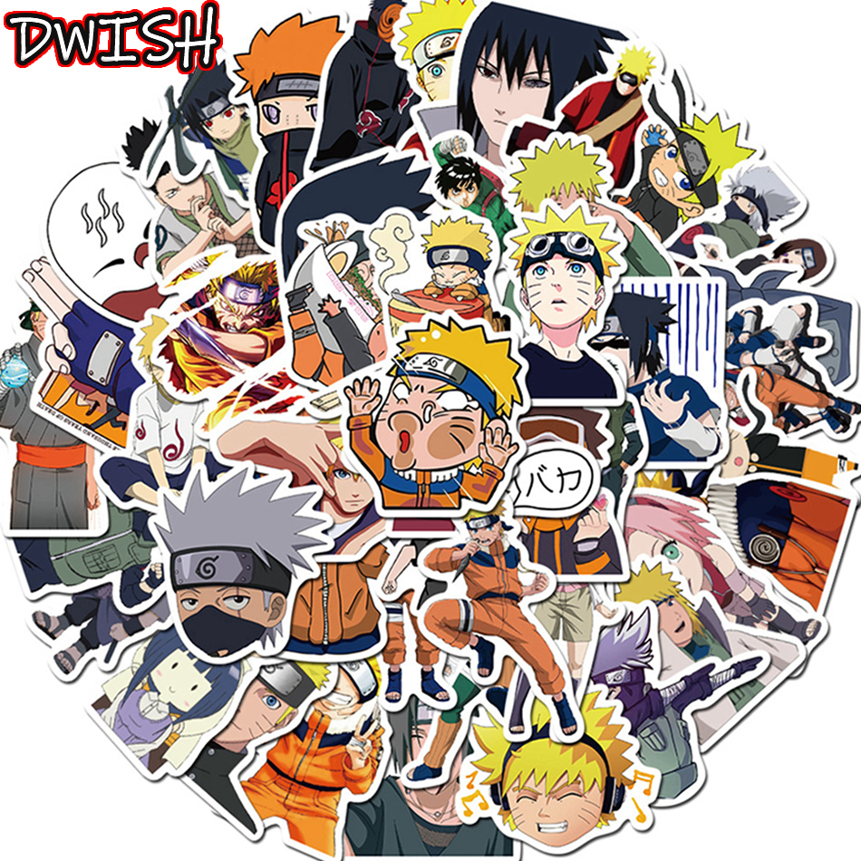 10/30/50pcs/Pack Cartoon NARUTO Anime Stickers Waterproof Skateboard Motorcycle Guitar Luggage Bicycle Graffiti Sticker Kids Toy