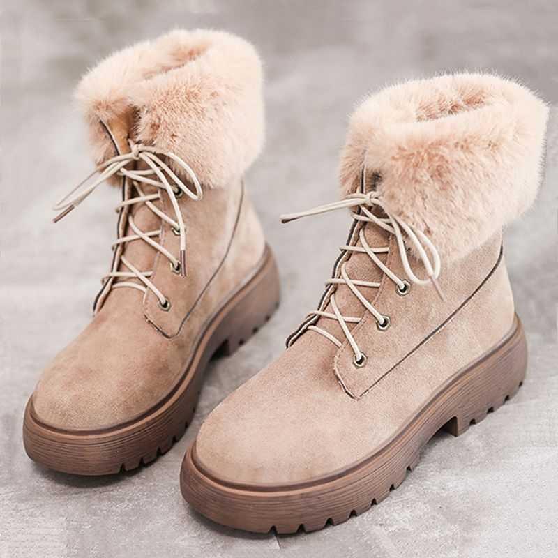 2019 Nieuwe Snowboots Vrouwen Platte Hak Laarzen Winter Westerse Laarzen Cowboy Laarzen Vrouwen Schoenen Mode Combat Laarzen Zwarte Enkel laarzen