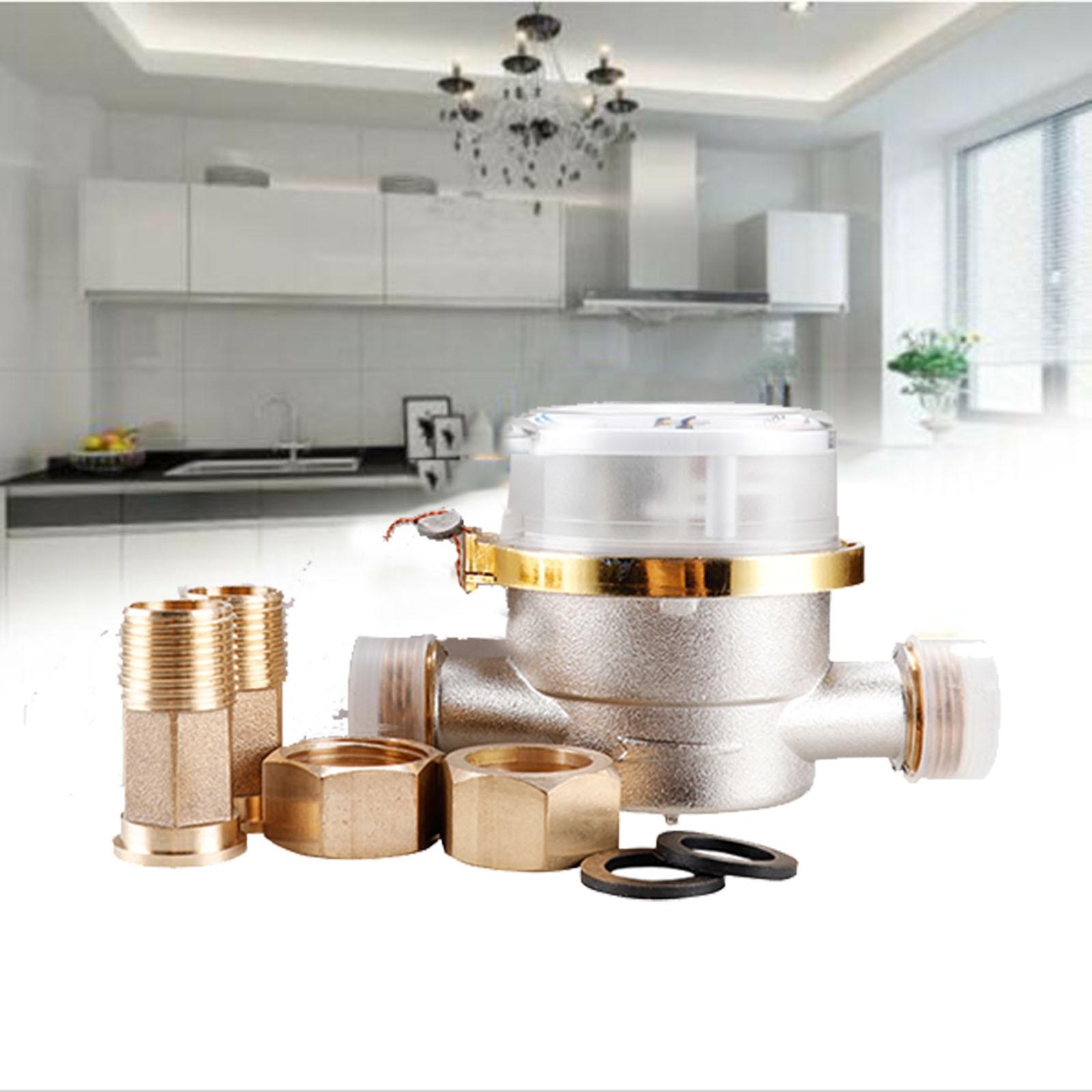 Intelligent Water Meter Household Mechanical Rotor Type Cold Water Meter Pointer Digital Display Combination Water Meters#35