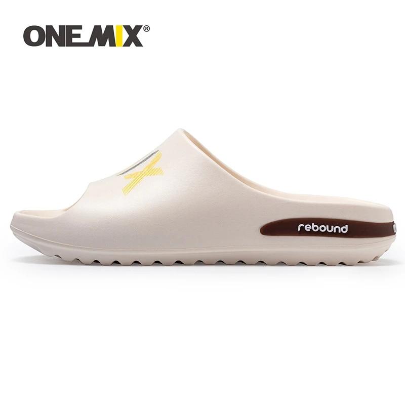 ONEMIX Original Men Indoor Sandals Slipper Summer Casual Outdoor Non-slip Beach Wadding Shoes Adult Male Cartoon Home Flip Flops
