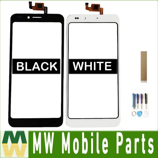 For Senseit A150 Touch Screen Digitizer Glass Lens Black White With Tools+Tape