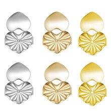 4 pçs estilos de moda hipoallergenic brinco dispositivo criativo clipe em brincos parafuso prisioneiro fivela levantador europeu americano jóias de volta