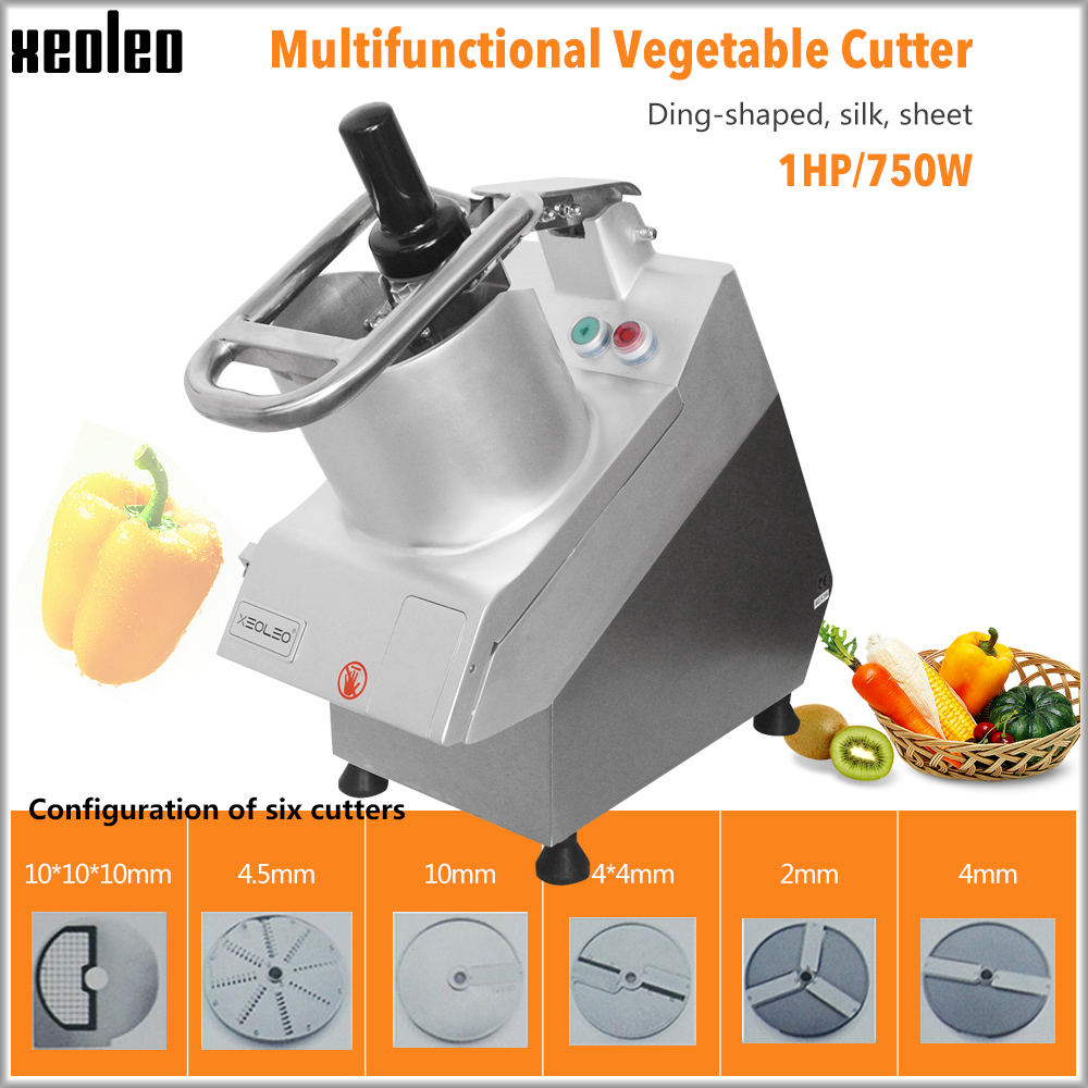 XEOLEO Vegetable Slicer Fruite Vegetable Shred Machine Vegetable Dicer Machine Multi-function Vegetable Cutter 750W Big Mouth