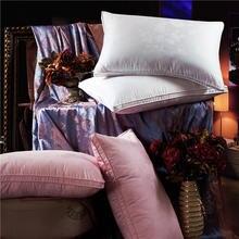 100% High end 95 white velvet flower pillow Orthopedic Children adult high end adjustable White Velvet pillow core First Grade