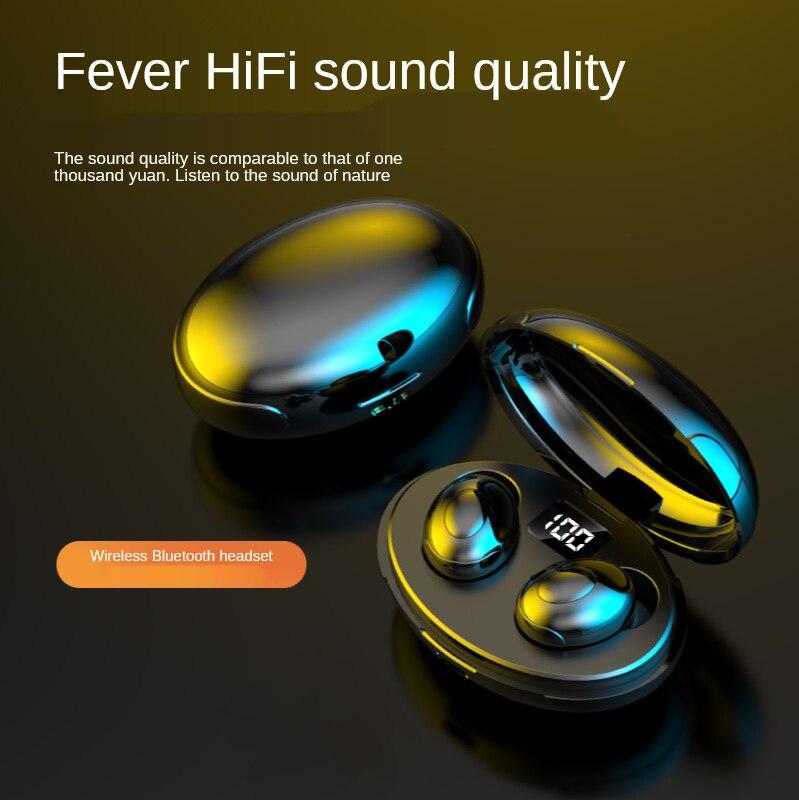 T5 Bluetooth headset 5.0 led number display charging bin TWS wireless Bluetooth headset