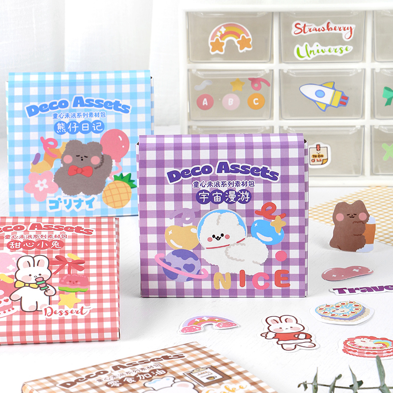 Cute Girl Alice Stamp For Scrapbooking Journal Diary Filofax Decoration Rabbit Cat Bear 10 Style