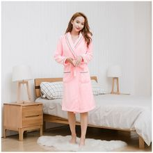 2019 Autumn Winter Nightgowns Women Thicken Flannel Bathrobe Pajamas Bath Coral Velvet Warm Robe Sleepwear Womens Robes