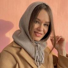 Gorros mujer invierno gorros gorros inverno feminino chapéus unissex malha cashmere com capuz gola pescoço ajustável boné elástico