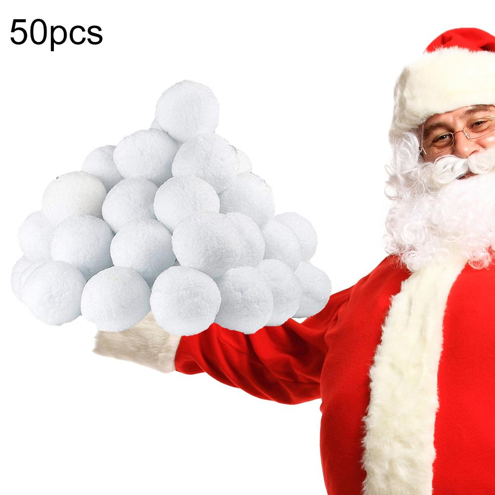 50Pcs 7.5cm Indoor Realistic Fake Soft Snowballs for Fight Game Christmas Fun Outdoor interactive toys toys winter sports toys image