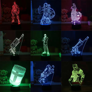Souvenir Gift Llama 7 Colors Touch Table Desk Light 3D LED Lava Lamp Acrylic Illusion Room Atmosphere Lighting for Game Fans