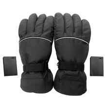Мотоциклетные Перчатки с электрическим подогревом зимние теплые термальные лыжные перчатки для сноубординга черные
