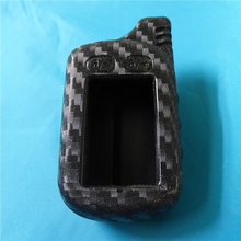 цена на Carbon Fiber Silicone Two Way Car Alarm LCD Remote Control Fob Cover Key Bag Fit For Tomahawk TZ 9030 9020 9010 7010 TZ-9030