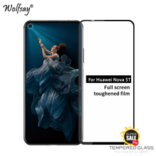 Full Glue Cover Glass For Huawei Nova 5T Tempered Screen Protector Phone Film