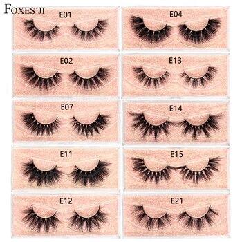 FOXESJI Lashes 3D Mink Eyelashes Popular Natural long Fluffy Dramatic Eyelash Extension Makeup Eye Lashes Full False Eyelashes недорого