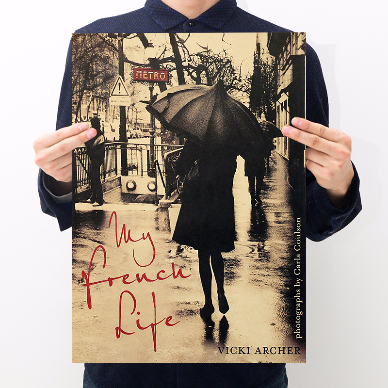 Movie My Parisian Life Vintage Kraft Paper Poster Room Decoration Cafe Home Decoration Painting Art Wall Sticker
