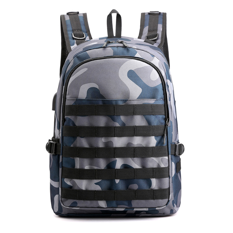 World Peace PUBG Camouflage Navy Backpack Level III Back Bag Cosplay Simple High Capacity SWAT Bags For Travel Casual Teenager