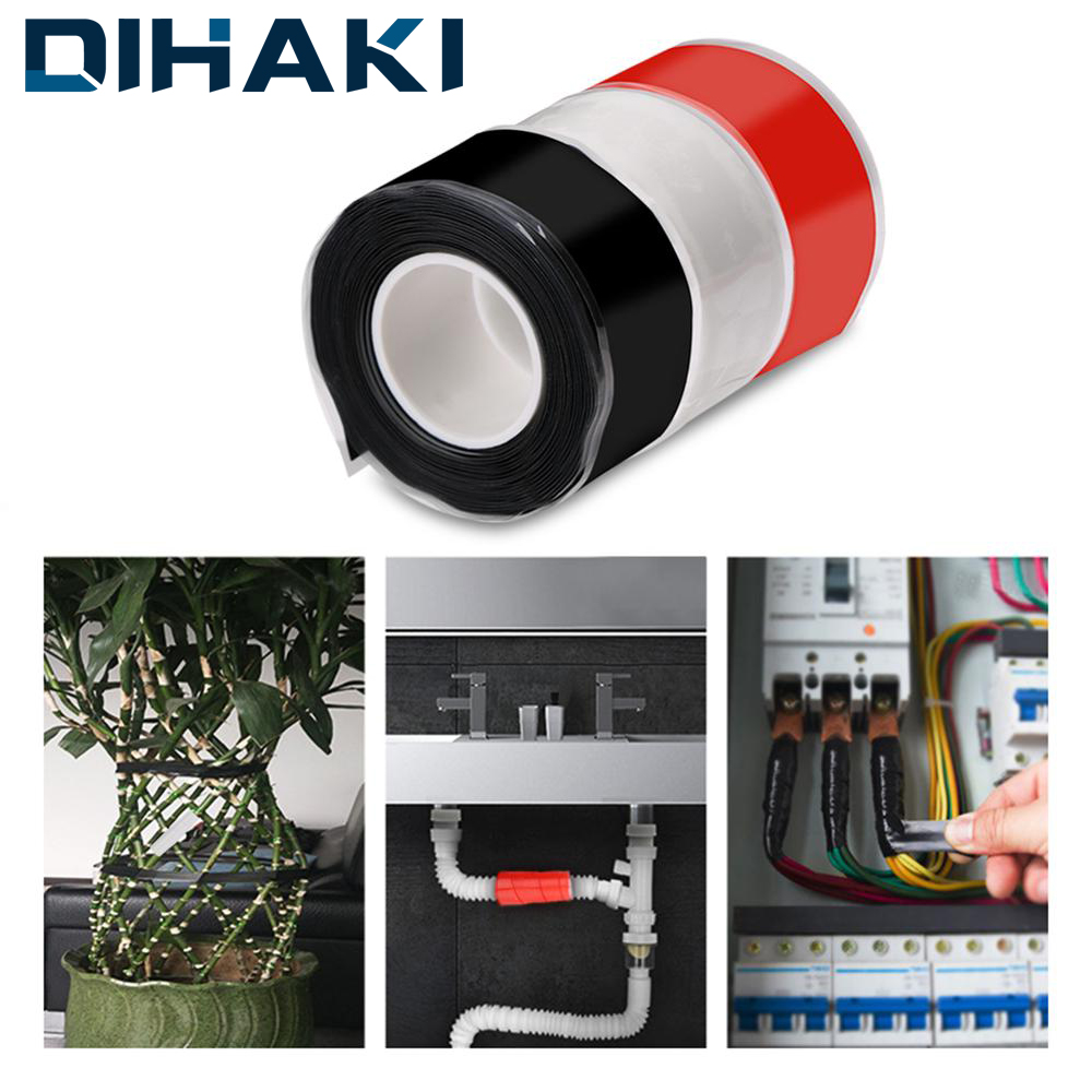 Sealant Water Pipe Sealing Plumbing Sealers Repair Bonding Tape For Electrical Connections Waterproof Resistant Heat Insulation