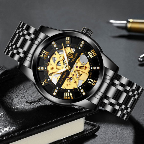 Top Brand Luxury TEVISE Mens Self Wind Wristwatch Man Mechanical Watches Automatic Watch Fashion Male Clock Relogio Masculino Karachi