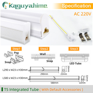 Image 4 - Kaguyahime 30cm 60cm Integrated T8 T5 LED Tube 6W 10W 220V Fluorescent Tube LED T5 Light Tube Lamp Lighting 300mm 600mm
