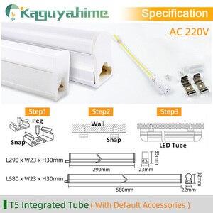 Image 4 - Kaguyahime 30cm 60cm integrado T8 T5 tubo LED 6W 10W 220V LED de tubo fluorescente T5 tubo de luz de iluminación de la lámpara 300mm 600mm