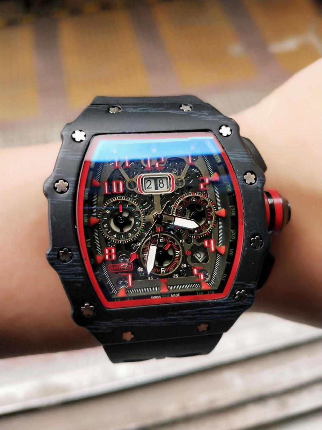 Aaa Men's High-end Fashion Watch, Full-function Quartz Watch, Silicone Strap, High Quality And High Quality.