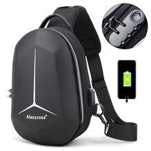 2020 جديد حقيبة كتف متعددة الوظائف للرجال مقاوم للماء رحلة قصيرة حقيبة صدر للرجال مكافحة سرقة الرجال حقائب كروسبودي أكسفورد USB شحن