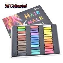 Giz pastel seco 36 rápido temporária giz cabelo cor pó giz pastel conjunto de giz macio giz lápis-para-extensões de cabelo