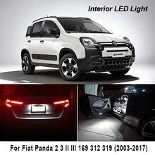 Güzel beyaz Canbus araba LED İç ampüller okuma Dome harita işık kiti Fiat Panda 2 3 II III 169 312 319 (2003 2017)