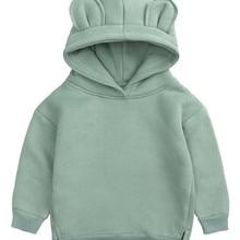 Hoodies Kids Sweater Clothing Ear-Spring Baby-Girls Infant Boys Bear Cute Solid