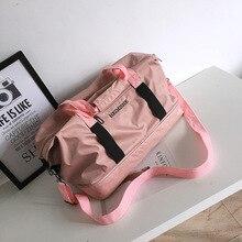 MissYe Bagmall  Sports fitness bag male tremolo same travel hand ladle shoulder luggage female yoga custom logo