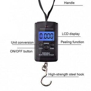 Image 4 - Цифровые весы для багажа, 40 кг х 10 г, электронные весы подвесного крючка для рыбалки, путешествий, кухни