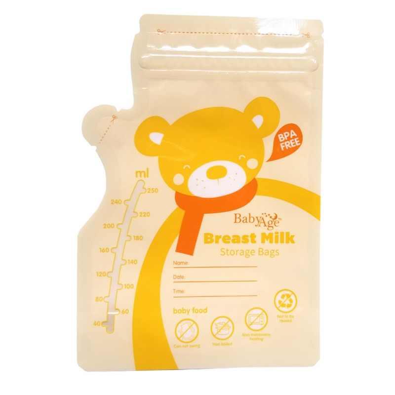 30 штук сумки для замораживания молока для мамы, молока, детского питания, пакет для хранения грудного молока, BPA бесплатно, безопасный для детей, 250 мл, сумки для кормления