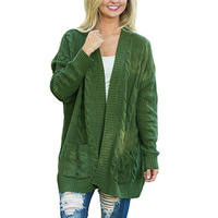 Autumn Winter Christmas Sweater Woman Cardigans Coats Open Stitch Clothes Hot Sweater Plus Size
