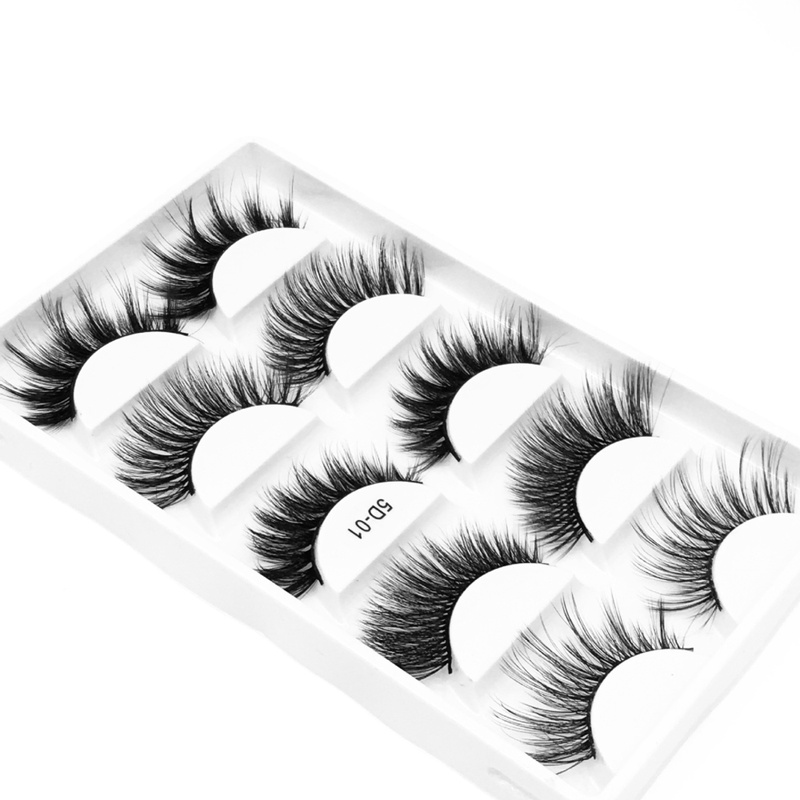 NEW 5D Natural False Eyelashes Fake Lashes Makeup Lengthen Fiber Lashes Eyelash Extension Thick Eyelashes For Beauty TSLM1