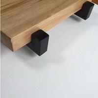 벽에 장착 된 선반 브래킷 헤비 듀티 발판 보드 플로팅 브래킷 산업용 철지지 테이블 액세서리