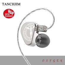 TANCHJIM Oxygen HIFI Earphone Metal Detachable Cable 3.5mm In Ear Dynamic Earphone Earbuds High Resolution Heaset