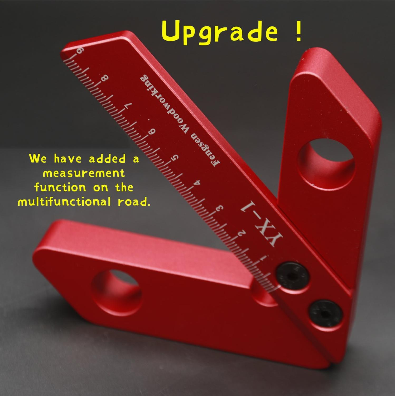 Woodworking Center Scribe 45 Degree 90 Degree Right Angle Center Ruler Center Fast Positioning, Woodworking Auxiliary Tools