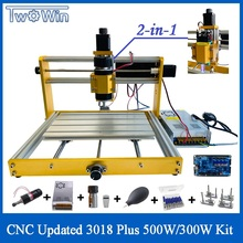 Upgragded CNC 3018 Plus 500W/300W Kit 15W Fixed Focus Laser Engraver GRBL DIY 3Axis PBC Milling Machine Wood Router For Metal