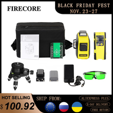 FIRECORE 360 Laser Level 3D 12Lines Auto Self-Leveling Red Green Laser With Receiver/Bracket/3M Tripod